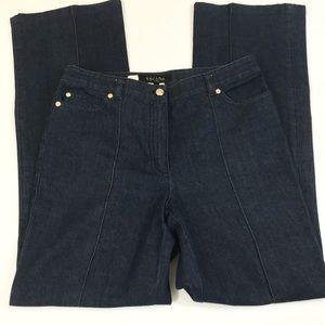 Escada High Rise Wide Leg Trouser Jeans Denim 10 V